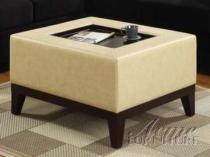 Acme Furniture 05113 Barrow Series Contemporary Leather Ottoman