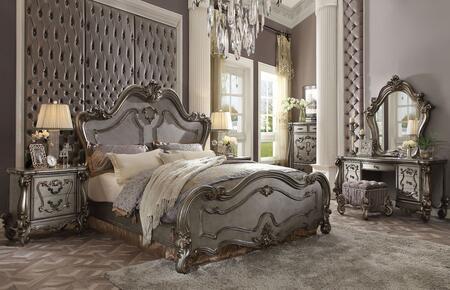 Acme Furniture Versailles 7 Piece King Size Bedroom Set