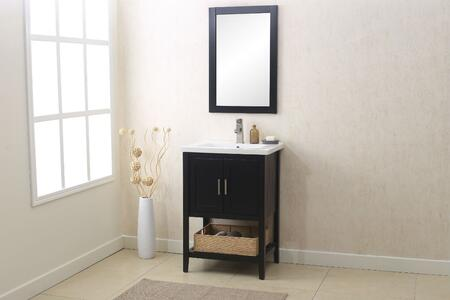 "Legion Furniture WLF6021 24"" Sink Vanity with Mirror, UPC Faucet and Basket in"
