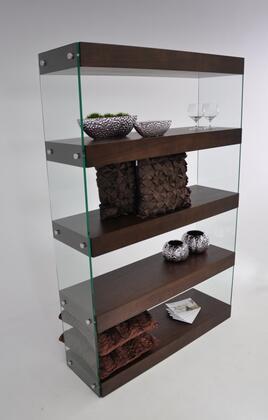 VIG Furniture VGCNAURATOBBOOKCASE Modrest Aura Series Veneers 4 Shelves Bookcase