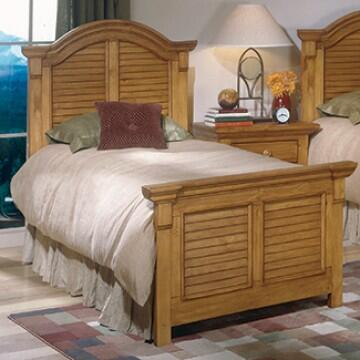 American Woodcrafters 65X050PAN Panel Queen Bed in XXX Finish