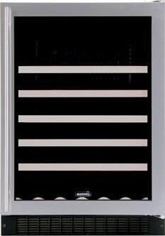 """Marvel 61WCMBBGLR 23.875"""" Freestanding Wine Cooler, in Black"""