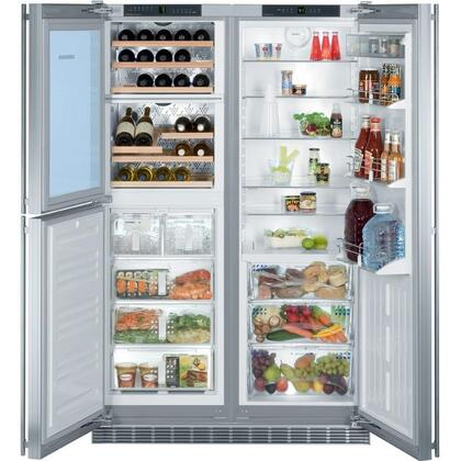 Liebherr SBS24I6  Counter Depth Side by Side Refrigerator with 16.4 cu. ft. Capacity in Panel Ready