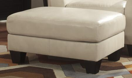 Milo Italia MI-1992ATMP Kamden Ottoman with Plush Seat Cushion and Richly Finished Tapered Feet in