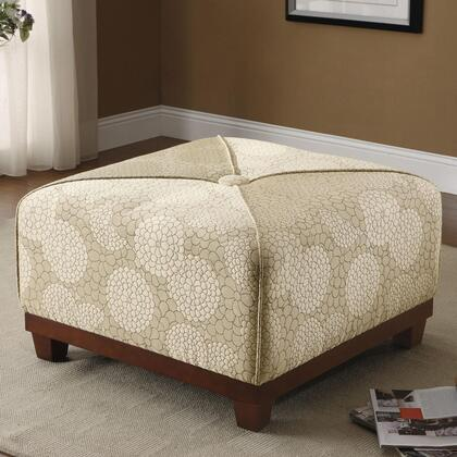Coaster 500982 Ottomans Series Traditional Fabric Ottoman