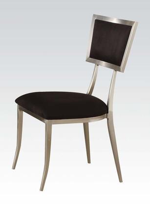 Acme Furniture 70018 Abbott Series Modern Microfiber Metal Frame Dining Room Chair