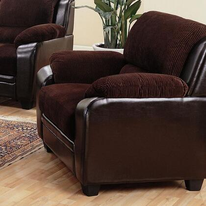 Coaster 502813 Monika Series Fabric Armchair with Wood Frame in Chocolate