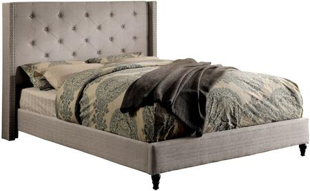 Furniture of America CM7677GYEKBED Anabelle Series  King Size Platform Bed