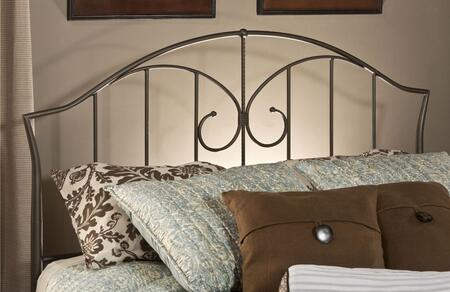 Hillsdale Furniture 1002H Zurick Open-Frame Headboard with Vertical Bar Pattern and Metal Construction in Astroid Pewter Color