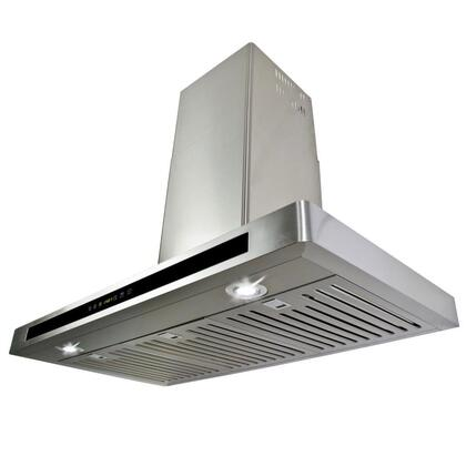 """Golden Vantage GWR53A30 30"""" Wall Mount Range Hood with 760 CFM, 65 dB, Innovative Touch, 2W LED Lighting, 3 Fan Speed, Stainless Steel Baffle Filter and X: Stainless Steel"""
