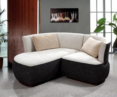 VIG Furniture VG2T0622  Sofa and Chaise Fabric Sofa