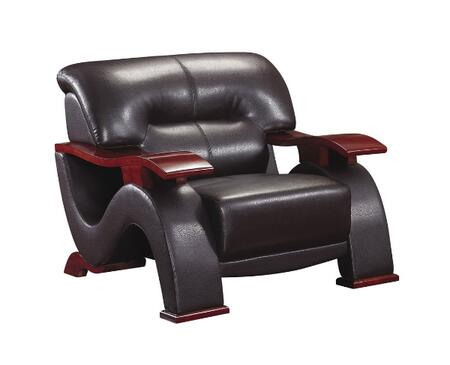 Global Furniture USA 2033R2VDKBRCH Ultra Bounded Leather with Wood Frame