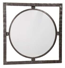 Stone County Ironworks 905-025 Forest Hill Round Wall Mirror