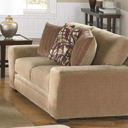 """Jackson Furniture Prescott Collection 4487-02- 69"""" Loveseat with Mailbox Arm Treatment, Reversible Box Seat Cushions and Padded Chenille Fabric Upholstery in"""