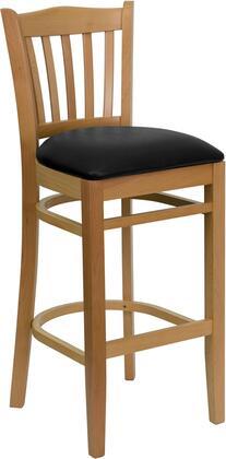 Flash Furniture XUDGW0008BARVRTNATBLKVGG Hercules Series Vinyl Upholstered Bar Stool