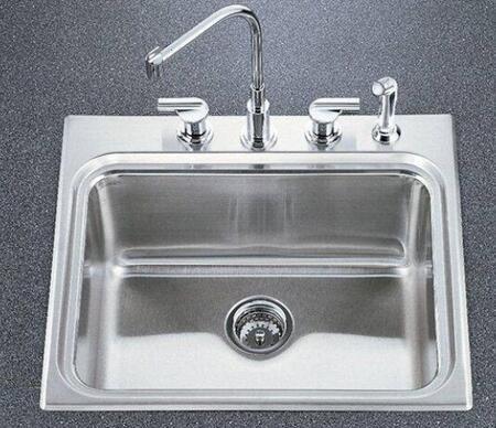 "Kohler K-3206-SS Ballad Self-Rimming Utility Sink 10"" Deep Basin With"