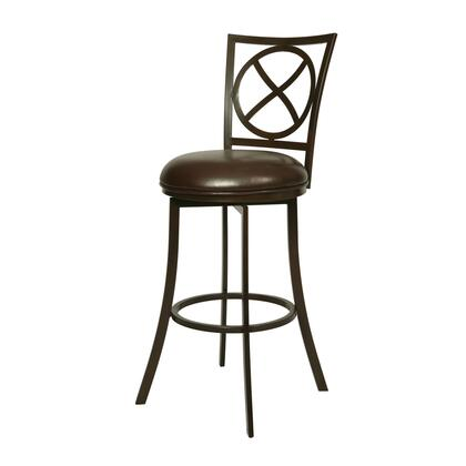 Pastel Furniture QLZL222 Zelenia Bar Height Swivel Barstool in Brown