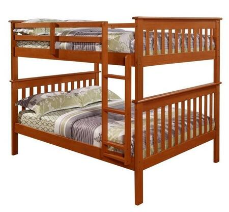 Donco 1233 Hardwood Full Over Full Mission Bunk Bed: