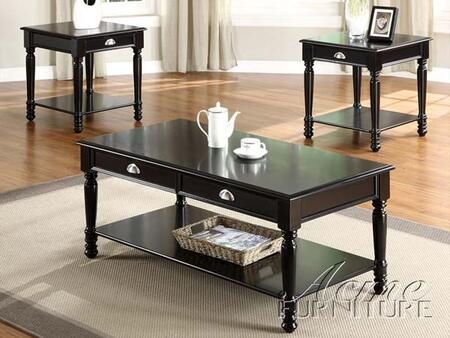 "Acme Furniture 18464 48"" Contemporary Living Room Table Set"