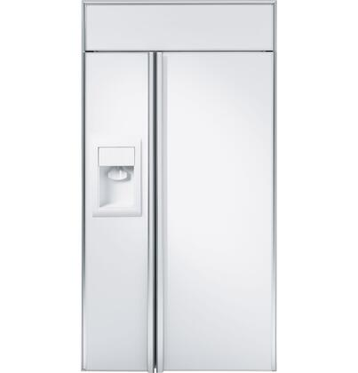 GE Monogram ZISW420DX Monogram Series Side by Side Refrigerator with 25.5 cu. ft. Capacity in Panel Ready