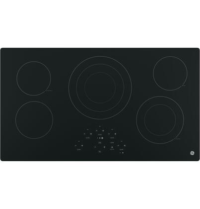 """GE JP5036 36"""" Built-in Electric Cooktop with Five Radiant Cooking Elements, Digital Touch Controls, Kitchen Timer, Keep-Warm and Melt Settings in"""