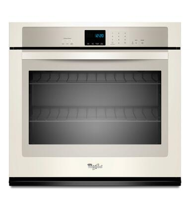 "Whirlpool WOS51EC0A 30"" Single Electric Wall Oven With 5.0 Cu. Ft. Self-Cleaning Oven, SteamClean Option, Extra-Large Oven Window, Digital Clock, Hidden Bake Element, Sabbath Mode, In"
