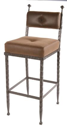 Stone County Ironworks 904197FAUXOBF Forest Hill Series  Bar Stool
