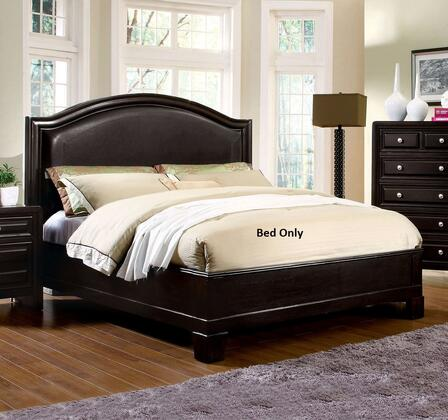 Furniture of America Winsor CM7058X Bed with Transitional Style, Platform Bed, Padded Leatherette Headboard, Slat Kit Included in Espresso
