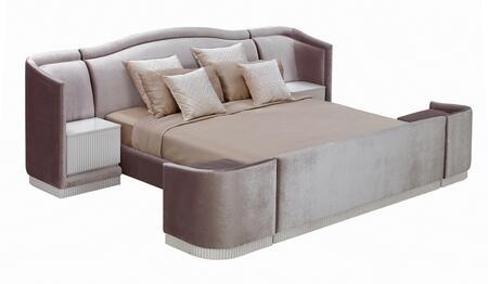 VIG Furniture VGWCTEM8C006ACK Temptation Romeo Series  Cal King Size Platform Bed