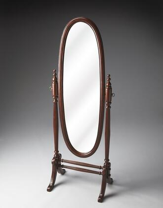 Butler 4109024 Plantation Cherry Series Oval Portrait Floor Mirror