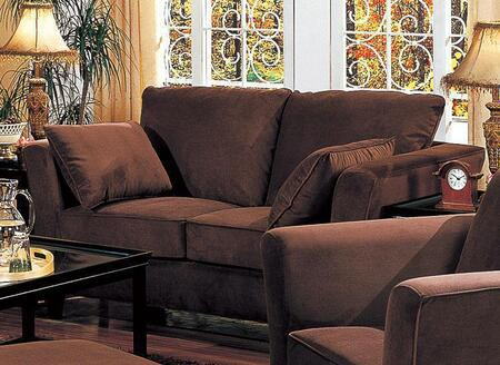 """Coaster Park Place 500231 89.5"""" Sofa with Flared Arms, Throw Pillows, Attached Seat Cushions, Kiln Dried Hardwood Frame and Velvet Upholstery in"""