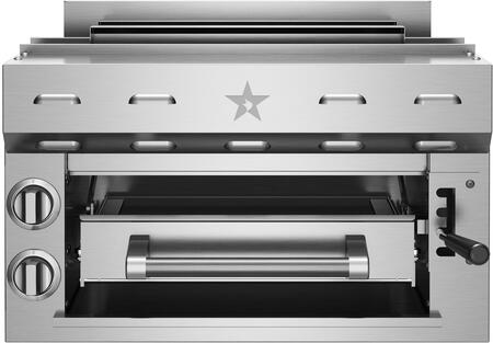 "BlueStar PRZSAL24X 24"" Countertop Salamander with (2) 11,000 BTU Infrared Ceramic Burners, 215 Sq. In. Cooking Area, Large Removable Heavy-Duty Grilling Rack and Automatic Electronic Ignition, in Stainless Steel"