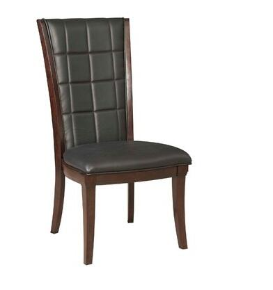 Broyhill 4467583 Avery Avenue Series Contemporary Leather Wood Frame Dining Room Chair