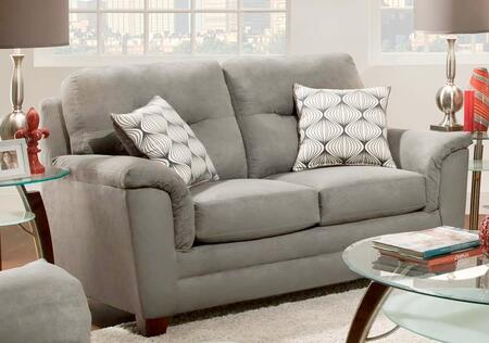 Chelsea Home Furniture 1810729335VLD Cable Series Polyester Stationary with Wood Frame Loveseat