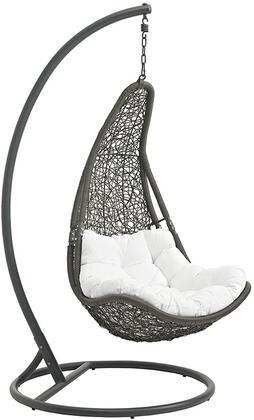 Modway EEI2276GRYWHISET Abate Series  Metal Frame  Patio Chair