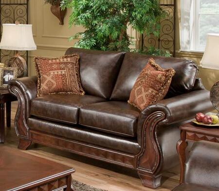 Chelsea Home Furniture 1869024800 Fabric Stationary with Wood Frame Loveseat