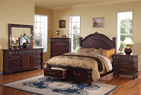 Acme Furniture 20497EK5PCSET Vevila King Bedroom Sets