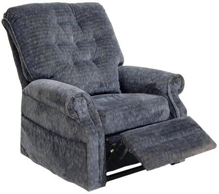 "Catnapper Patriot Collection 4824 36"" Power Lift Recliner with Full Lay-Out Comfort, Elegant Button Back, Rolled Arms, Steel Seat Box and Woven Velvet Upholstery"