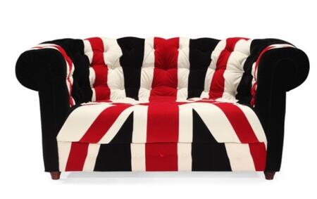 Zuo 900263 Union Jack Series  Loveseat