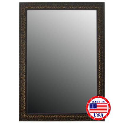 Hitchcock Butterfield 80960X Royal Bronze & Gold Beaded Accents Framed Wall Mirror