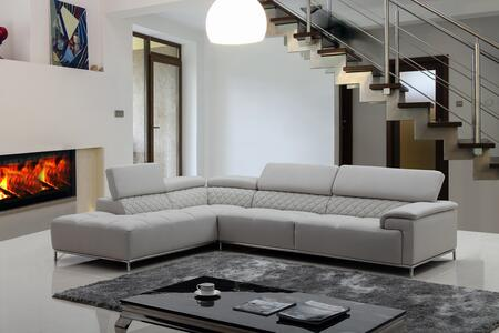 VIG Furniture VGKNK8482ECOLTGRY Divani Casa Citadel Series Sofa and Chaise Sofa