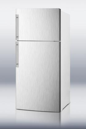 Summit FF1620WSSHV Freestanding Counter Depth Top Freezer Refrigerator with 15.8 cu. ft. Total Capacity 2 Glass Shelves