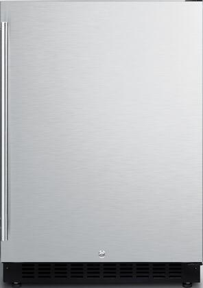 """Summit AL5xx 24"""" ADA Compliant, Commercial Compact Refrigerator with 4.8 cu. ft. Capacity, Factory Installed Lock, Frost Free Operation, Open Door and High Temperature Alarm, in"""