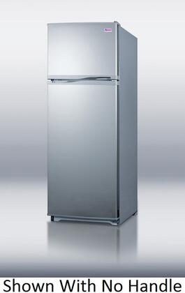 Summit FF1062SLVTB Freestanding Top Freezer Refrigerator with 9.41 cu. ft. Total Capacity 3 Glass Shelves