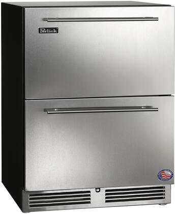 """Perlick HA24FB35 24"""" ADA Compliant Series Drawer Counter Depth Freezer with 4.8 cu. ft. Capacity in Stainless Steel"""