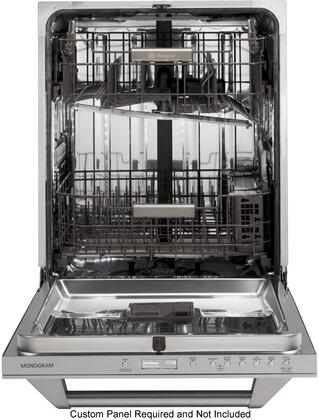 "GE Monogram ZDT800S 24"" Fully Integrated Dishwasher with 16-Place Settings, LED Lighting, Exclusive Max Dry System, Top Control LCD Display, Clean Sensor, 3-Piece Silverware Basket & Reversible Blade Wash Arm in"