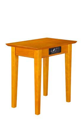 Atlantic Furniture AH1311 Shaker Chair Side Table with Charger