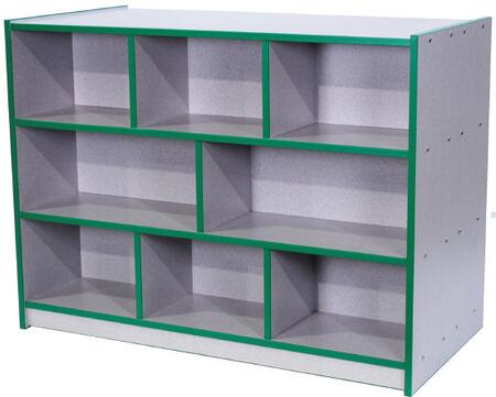 Mahar N30800 Double-Sided Storage Unit in Gray Nebula Finish with Edge Color (Tot)