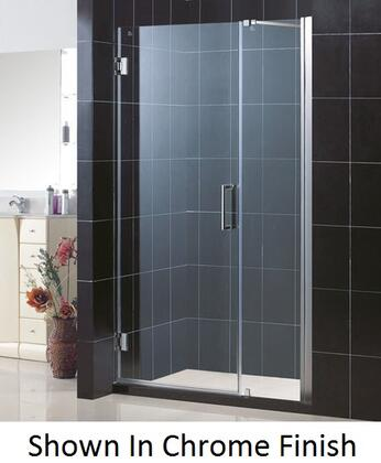 DreamLine SHDR-20467210 Unidoor Frameless Hinged Shower Door With Reversible For Right Or Left Door Opening, Self-Closing Solid Brass Wall Mounted Hinges (5 Degree Offset) & In