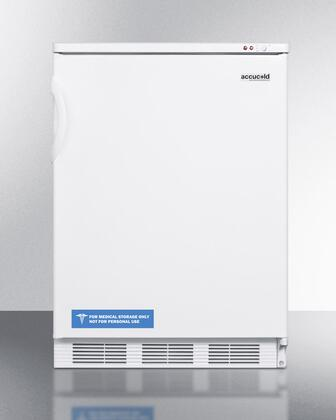 "Summit VT65MBX 24"" Medical Use Freezer with 3.5 cu. ft. Capacity, -25 Degrees C Capable, 3 Removable Storage Baskets, Adjustable Thermostat, and Manual Defrost in White: X Hinge"